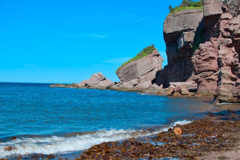 Rocher Tête d'indien, located in the village of Saint-Georges-de-Malbaie, à Pointe-Saint-Pierre, Québec, Canada.